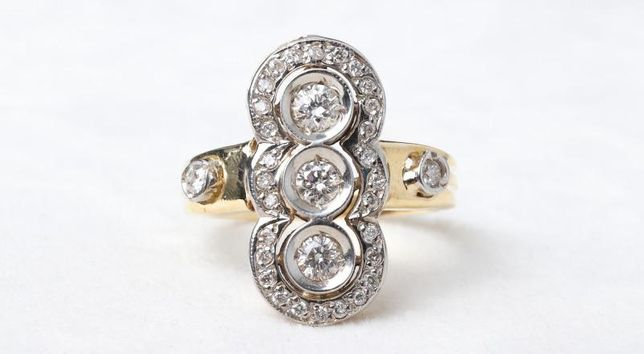 Кольцо с бриллиантами , золото 585 Россия, вес 7.00 г. «Ломбард Белый»