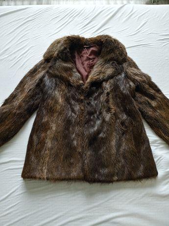 Палто от Визон с естествен косъм