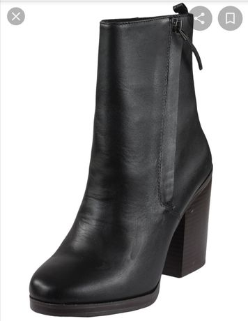 Botine piele Stradivarius Collection Black