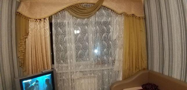 Продам шторы с тюлью
