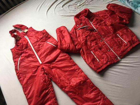 Червен Дамски ски екип яке и гащеризон