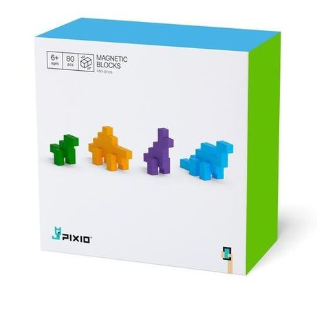 Set joc constructii magnetice PIXIO Mini Dinos, aplicatie iOS/ Android