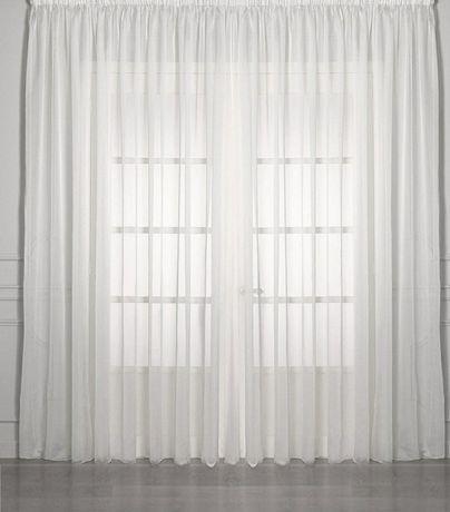 Тюль белая полупрозрачная (высота 293, ширина 280)