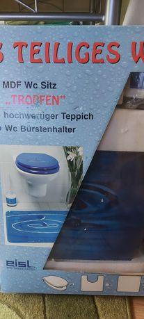 Сет за WC (тоалетна) капак+четка+постелка