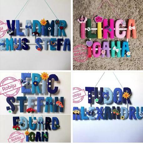 Nume personalizate. Litere colorate. Litere decorative
