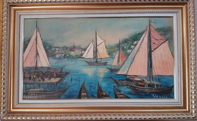 PICTURA ,Teodor Vescu ,Marina/Turcia,45x75 cm,