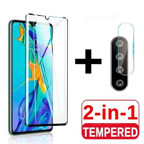 5D Стъклен протектор за Huawei P30 Pro + протектор за камера
