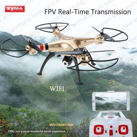 ANIMABG Квадрокоптер с камера (Дрон) Syma X8HW FPV