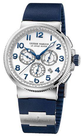 Часовник Ulysse Nardin Marine Chronograph Manufacture White Dial 43 MM