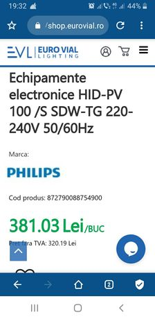 Droser philips . electronic philips HID PV 100