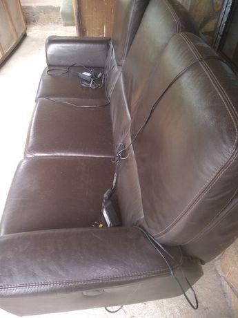 Естествена кожа диван