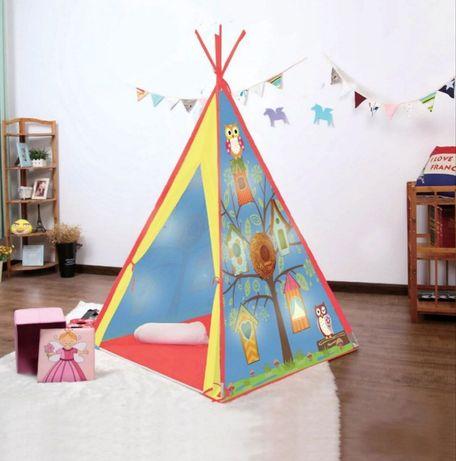Индианска детска къщичка къща детски палатка палатки с 10 LED светлини