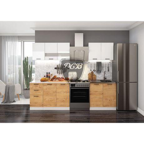 Кухонный гарнитур Дуся 2М (Россия, фабричная готовая мебель)