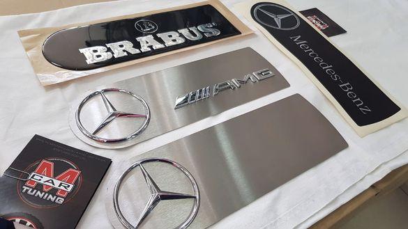 Емблеми за резервната гума за Mercedes G G350 G400 G500 G55 AMG G63