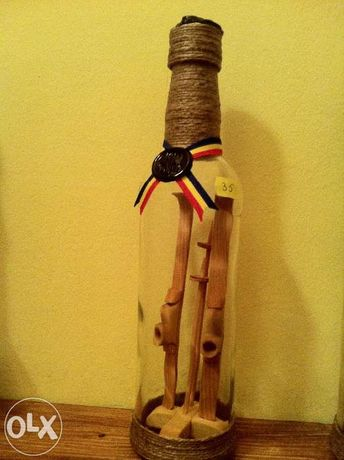 Sticla artizanala cu schiuri