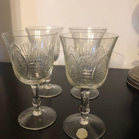 4 bucăți pahare cristal alb