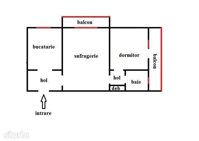 Apartament cu doua camere sd