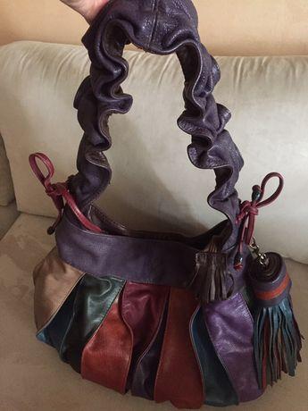 Дизайнерска дамска чанта от естествена кожа