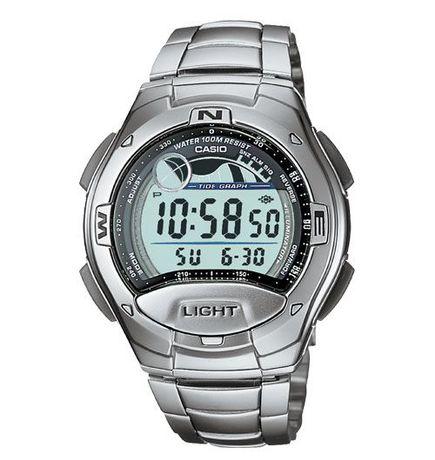 Ceas CASIO W753-1AV Original Dual Time, 8 alarme, fazele lunii s.a.