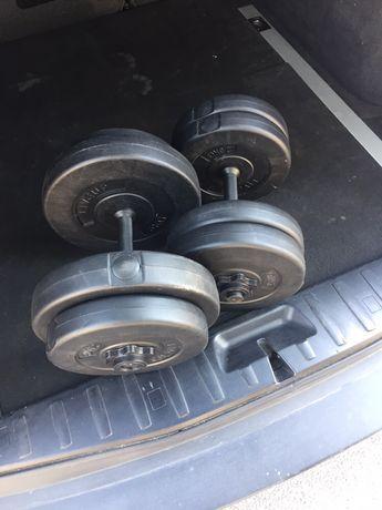 Gantere  set  22 kg/ 32 kg    200 ron