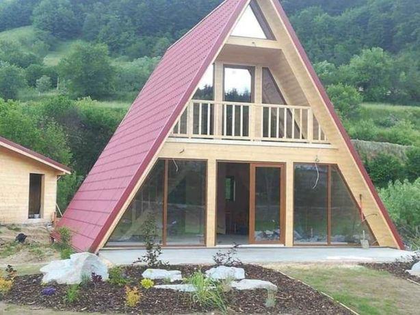 Realizăm cabane din lemn tip A orice mărime