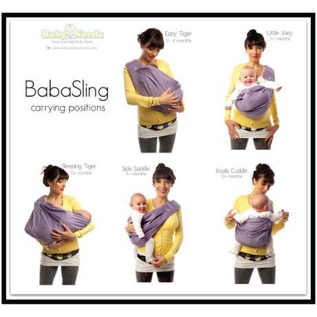 Sistem ergonomic de purtat bebe Baba sling 0 - 2 ani