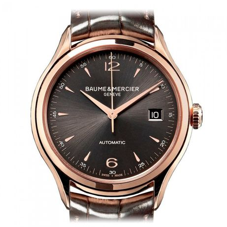 Часы Baume & Mercier Men's MOA10059 Clifton Pink Gold Watch