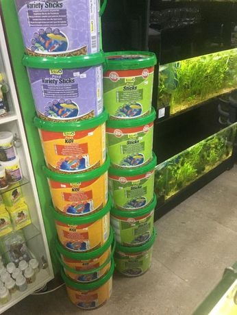 """Корм Tetra 10литров для прудовых рыб в """"Живом Уголке"""" в Таугуле"""