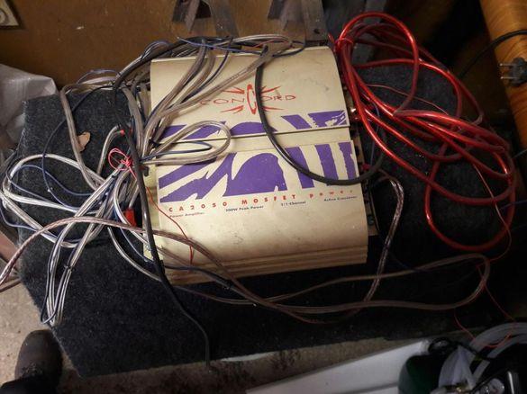 Усилвател,бас и всички кабели