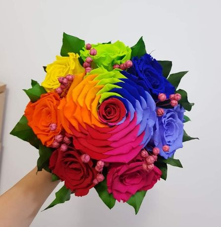 Buchet cununie/ nunta trandafiri criogenati