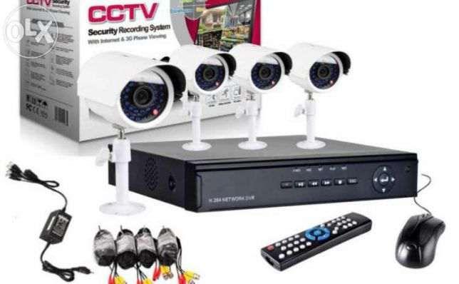 SISTEM SUPRAVEGHERE CAMERE CCTV kit dvr 4 camere interior/exterior