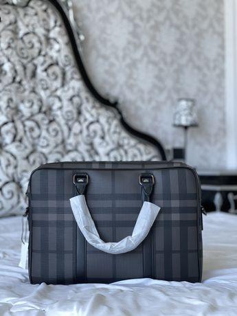 РАСПРОДАЖА!Мужская сумка Мужской портфель Burberry для ноутбука Люкс