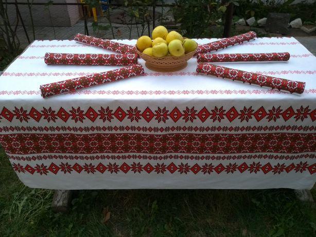 Set Fata de masa bumbac +6 stergare Tradițional Românesc, Restaurante