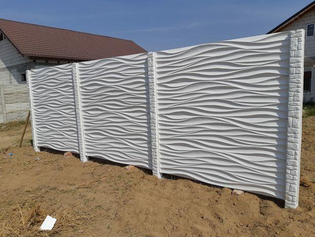 Gard din placi din beton