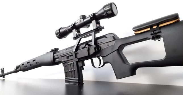 MODIFICAT 4J+PSL DRAGUNOV sniper airsoft FULL METAL hop-up reglabil