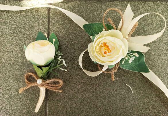Бутониери, сватбени гривни и аксесоари