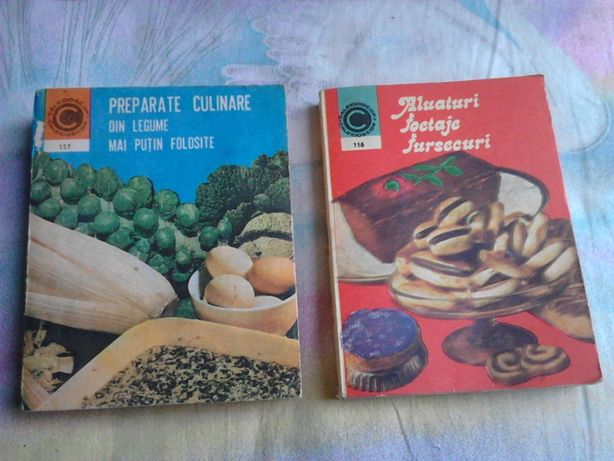 2 cărți de gătit / rețete / bucătărie, anii '80