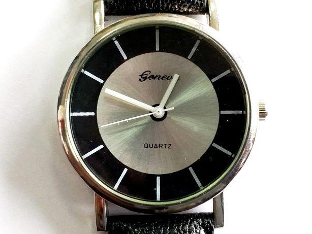 Ceas barbati - marca Geneva - model 2 cadran gri + negru