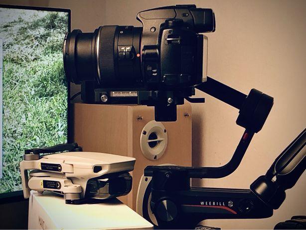 Filmare cu camera profesionala, stabilizator si drona & editare