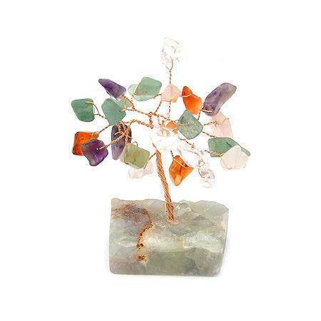 Copacel mixt pe suport de piatra remediu Feng Shui din Pietre semipret