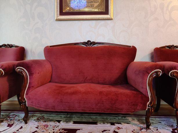 Комплект 2 дивана и 2 кресла в стиле барокко
