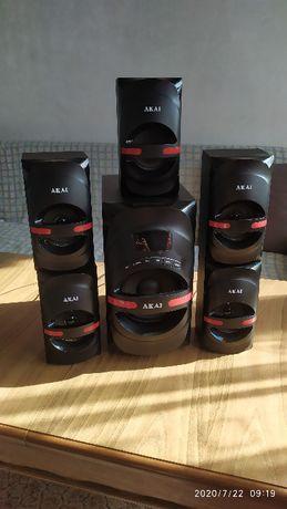 Akai audio System 5.1 USB/SD, MP3, Bluetooth 105W RMS