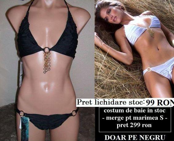 Costum de baie bikini AGUA CLARA Victoria's Secret negru lant auriu M