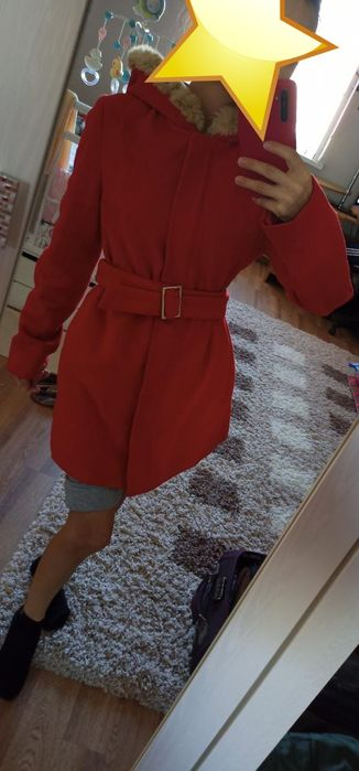 Красная пальто 42-44 Балыкши - изображение 1