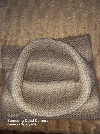 Тёплый шарф крючком