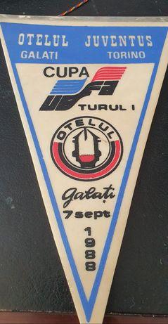 Fanion vinil Otelul Juventus Torino 1988 Cupa UEFA