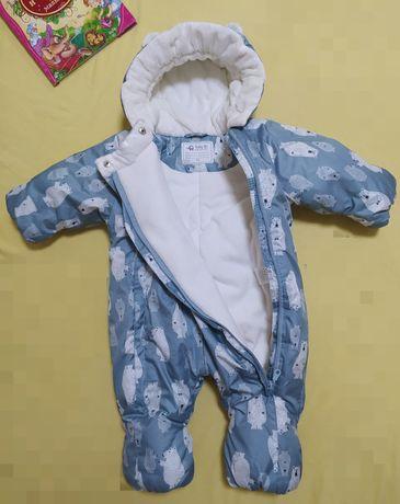 Комбинезон детский, теплый 74см