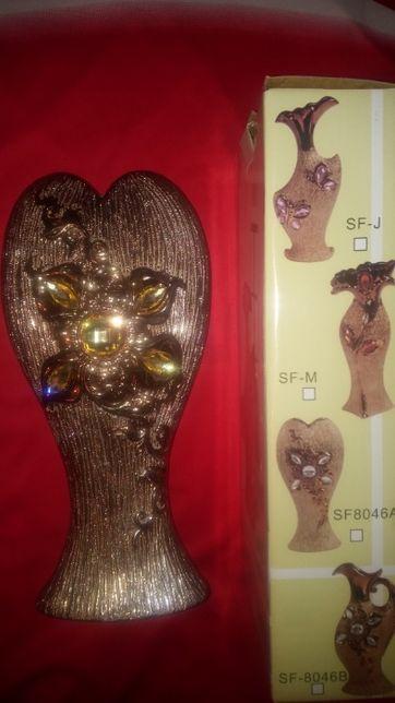 Vaza noua cutie/portelan/sidef/sidefata strasuri/ 28cm/ 13cm/ foto 1-8