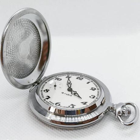 Раритетные карманные часы Молния «Глухарь и шишки»