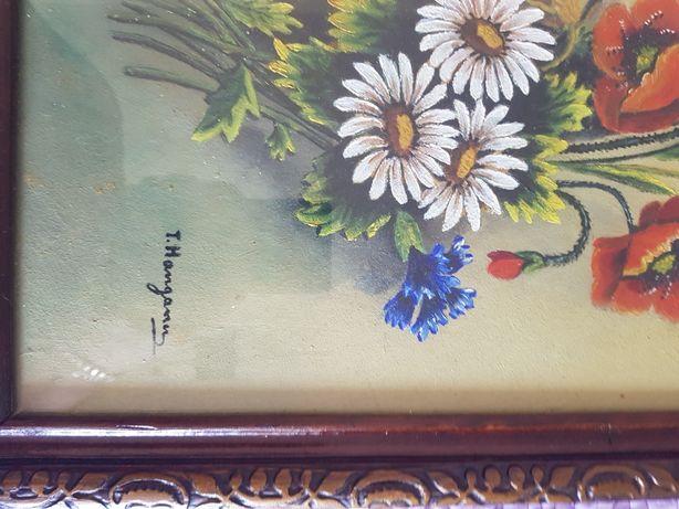 Tablou pictura in ulei semnat Teodora Hanganu